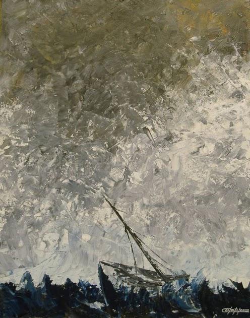 ART OF WAR- EPMR 32-Óleo a espátula sobre táblex 3 mm.-64x50 cms.