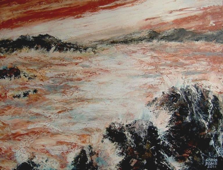 GOUNOD-FAUSTO- EPMR 41-Acrílico a espátula sobre lienzo-50x65 cms.