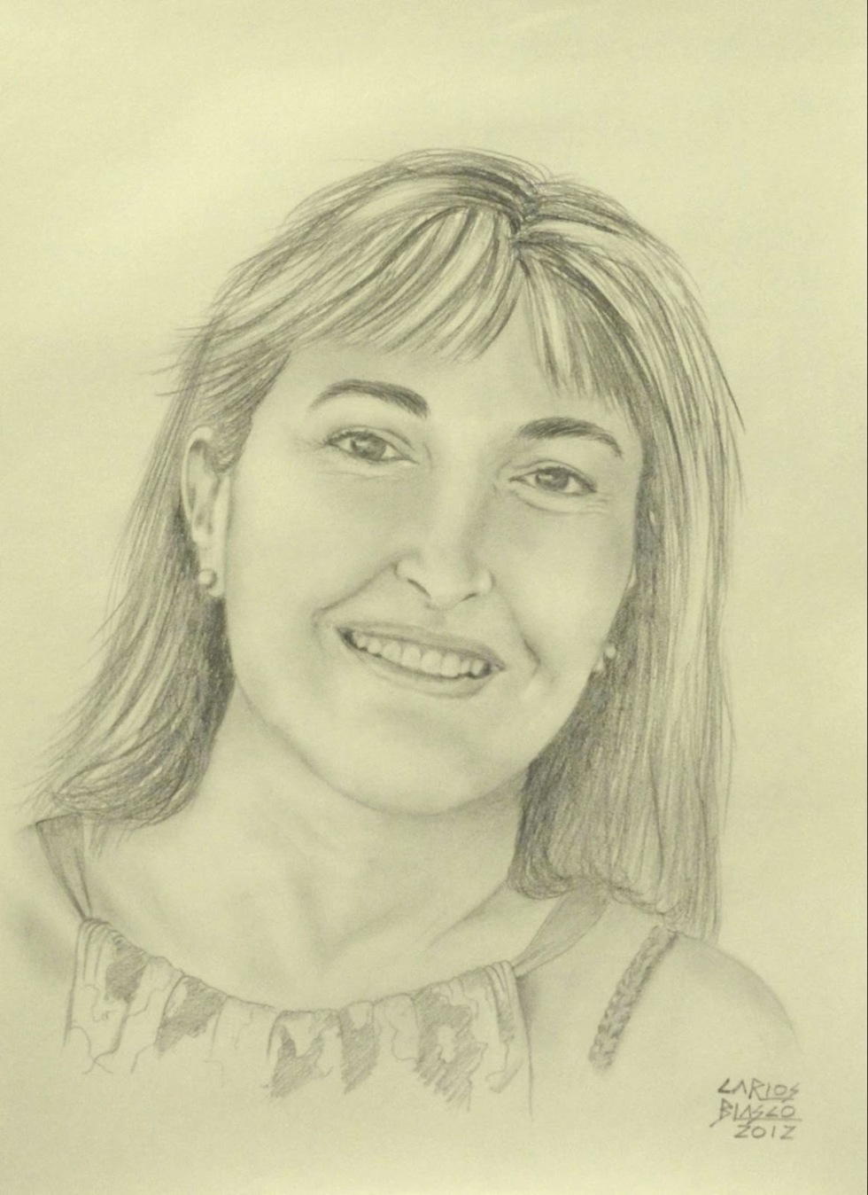 Mª JOSÉ-Grafito sobre papel-42x29 cms.