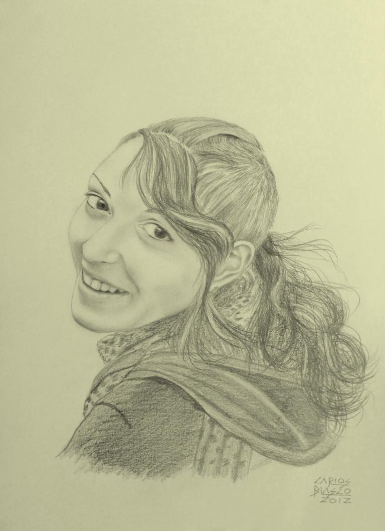 PATRICIA - Grafito sobre papel - 42x29 cms.