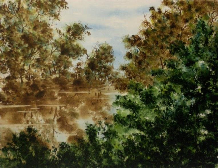 REFLEJOS-Acuarela sobre lienzo-50x65